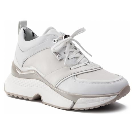 Sneakersy KARL LAGERFELD - KL61610 White Lthr 011