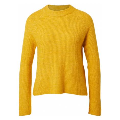 PIECES Sweter żółty