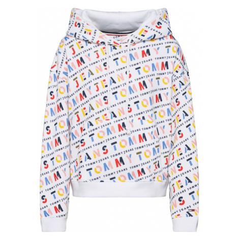 Tommy Jeans Bluzka sportowa 'AOP Hoodie' biały / mieszane kolory Tommy Hilfiger