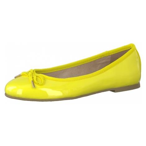 TAMARIS Baleriny żółty