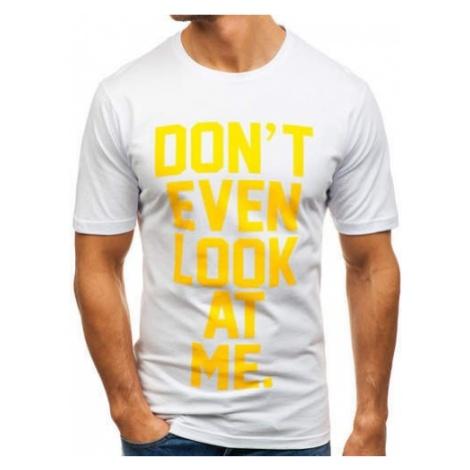 T-shirt męski z nadrukiem biały Denley 6294 RIPRO