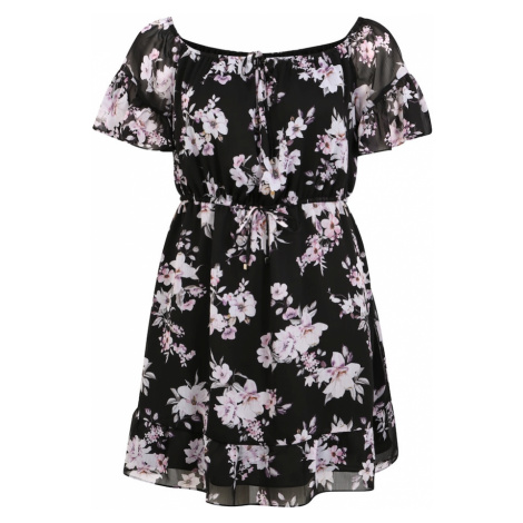 Forever New Sukienka 'Tash Flare Sleeve Bardot' ciemny niebieski / mieszane kolory