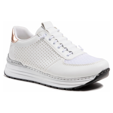 Sneakersy RIEKER - N6926-81 Weiss