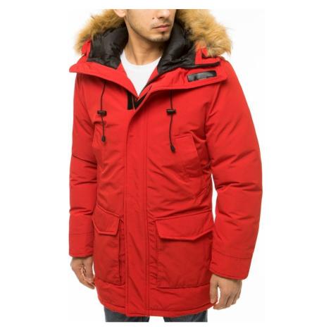 Czerwona męska kurtka z kapturem TX3608 DStreet
