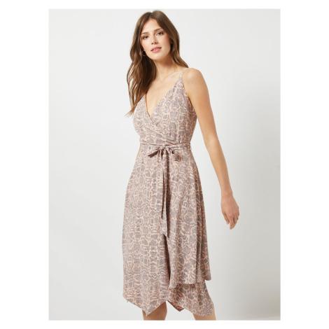 Dorothy Perkins jasno różowa sukienka ze wzorem węża