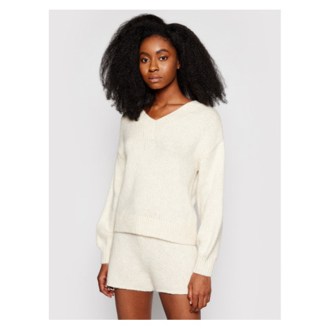 NA-KD Sweter 1018-006855-0005-003 Beżowy Regular Fit