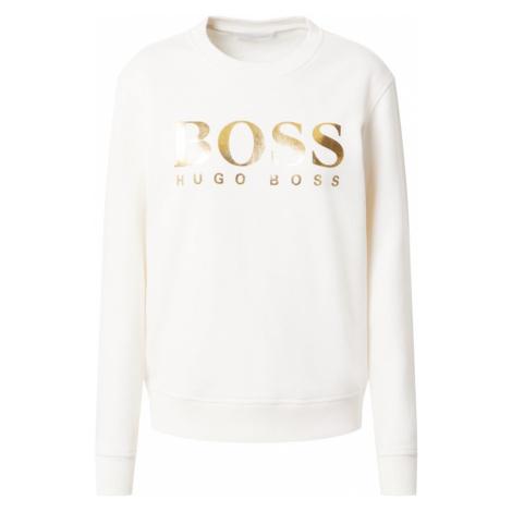 BOSS Bluzka sportowa 'Elaboss' biały / złoty Hugo Boss