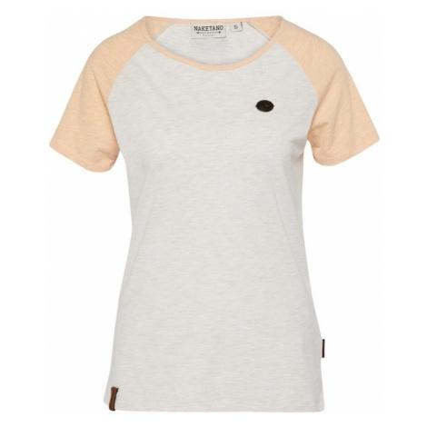 Naketano Koszulka 'Gebumst wie gebämst' jasnoszary / jasnopomarańczowy