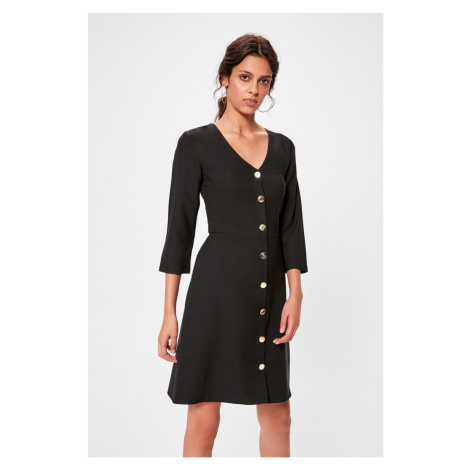 Trendyol Black Button Dress