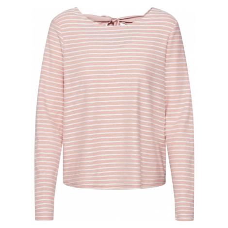 ONLY Sweter 'ONLELLY STRIPE TOP' różowy pudrowy / biały