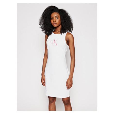 Calvin Klein Jeans Sukienka letnia J20J215663 Biały Slim Fit