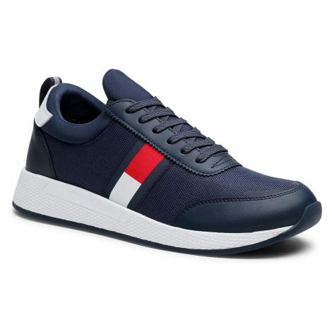 Sneakersy TOMMY JEANS - Flexi Lycra Tommy Jeans Runner EM0EM00632 Twillight Navy C87 Tommy Hilfiger