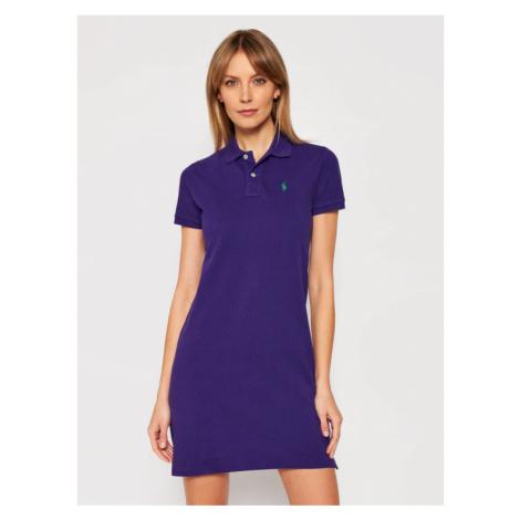 Polo Ralph Lauren Sukienka codzienna Ssl 211799490013 Fioletowy Regular Fit