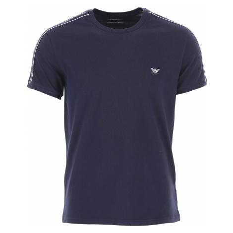 Emporio Armani Koszulka dla Mężczyzn Na Wyprzedaży, niebieski (Blue Marine), Bawełna, 2019