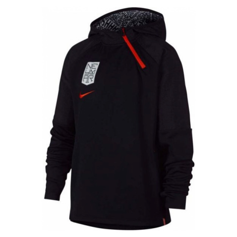 Nike NYR DRY HOODIE QZ NEYMAR czarny S - Bluza piłkarska chłopięca