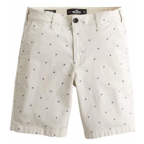 HOLLISTER Spodnie 'Palm Tree' niebieski / kremowy