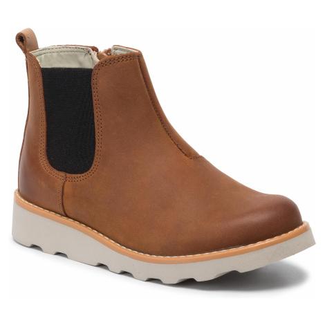 Trzewiki CLARKS - Crown Halo K 261458847 Tan Leather