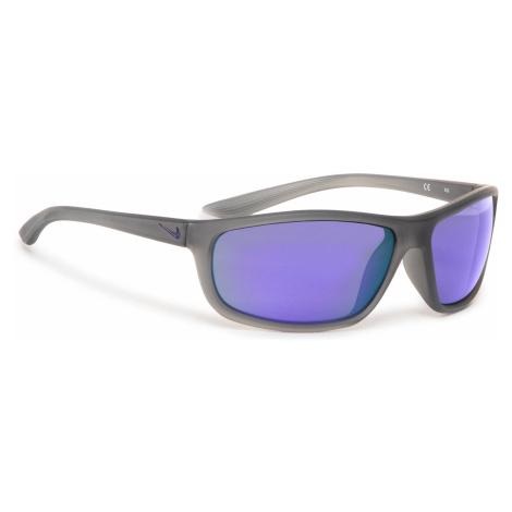 Okulary przeciwsłoneczne NIKE - Rabid EV1110 015 Matt Dark Grey/Grey W/Violet Mirror