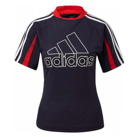 ADIDAS PERFORMANCE Koszulka funkcyjna biały / ciemny niebieski / czerwony