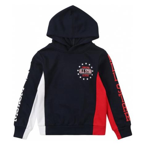 CONVERSE Bluza ciemny niebieski / biały / czerwony