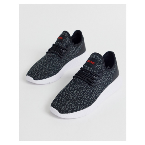 Pull&Bear knitted runner trainer in black Pull & Bear