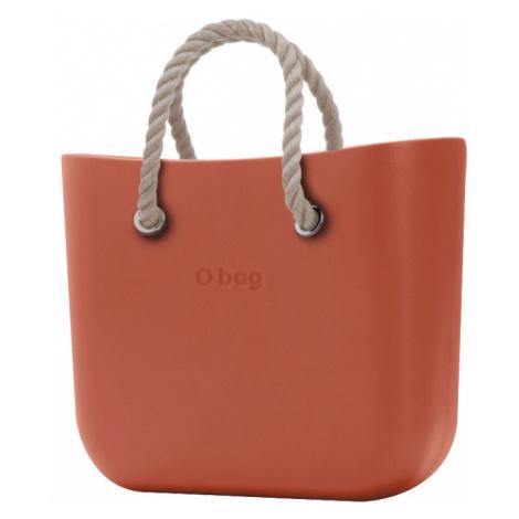 O bag torebka MINI Terracotta z krótkimi linami natural