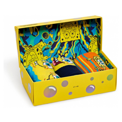 Happy Socks - Skarpetki Sponge Bob (3-pack)