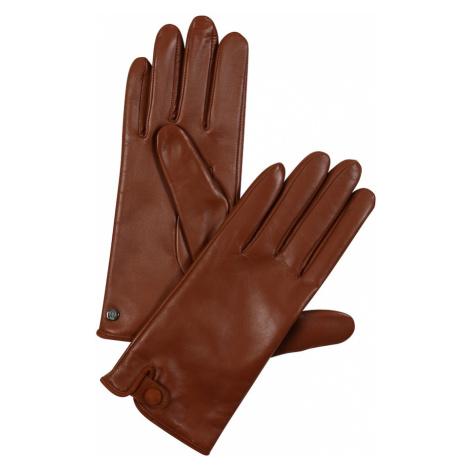 ROECKL Rękawiczki pięciopalczaste 'Tiny Belt' brązowy