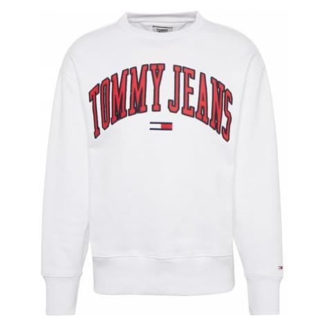 Tommy Jeans Bluzka sportowa 'TJM CLEAN COLLEGIATE CREW' czerwony / biały Tommy Hilfiger