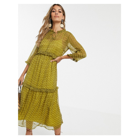 Y.A.S paisley printed tiered smock maxi dress