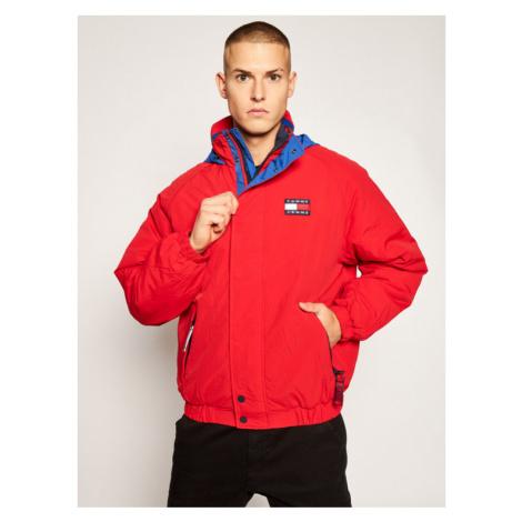 Tommy Jeans Kurtka puchowa Badge Zip-Thru DM0DM08763 Czerwony Regular Fit Tommy Hilfiger