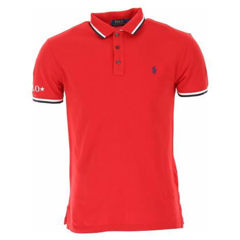 Ralph Lauren Koszulka Polo dla Mężczyzn Na Wyprzedaży, czerwony, Bawełna, 2019