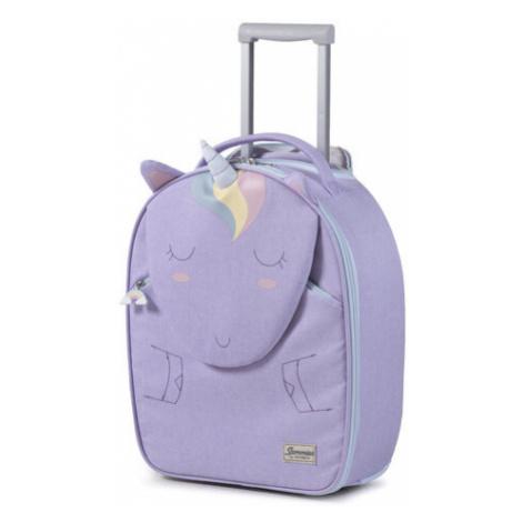 Fioletowe damskie walizki