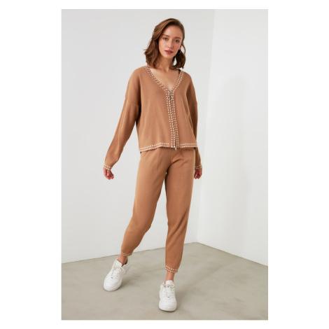 Trendyol Camel Knitwear Bottom-Top Team