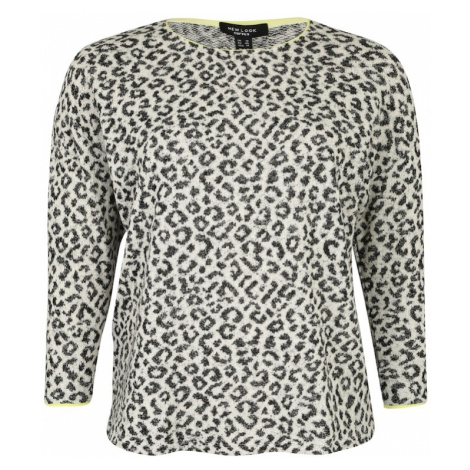New Look Curves Sweter 'ANIMAL GLITTER P23' szary