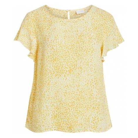 VILA Bluzka żółty / biały