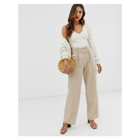 Y.A.S wide leg trousers with belt detail