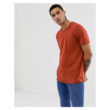 Weekday Dark T-shirt in dark orange