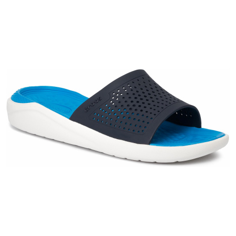 Klapki CROCS - Literide Slide 205183 Navy/White