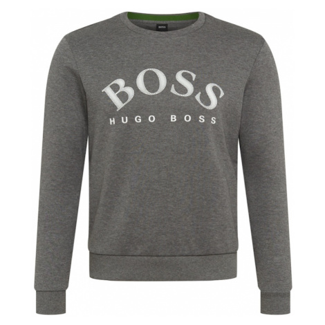 BOSS ATHLEISURE Bluzka sportowa 'Salbo' nakrapiany szary / biały Hugo Boss