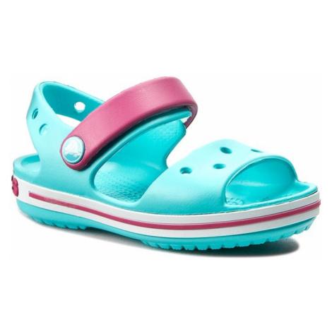 Sandały CROCS - Crocband Sandal Kids 12856 Pool/Candy Pink