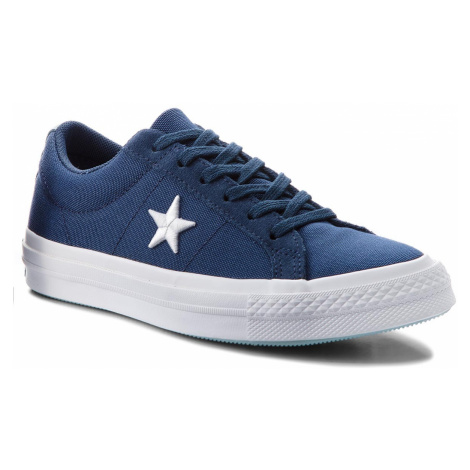 Tenisówki CONVERSE - One Star Ox 160598C Navy/White/Ocean Bliss