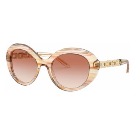 RALPH LAUREN Okulary przeciwsłoneczne brązowy / różowy pudrowy