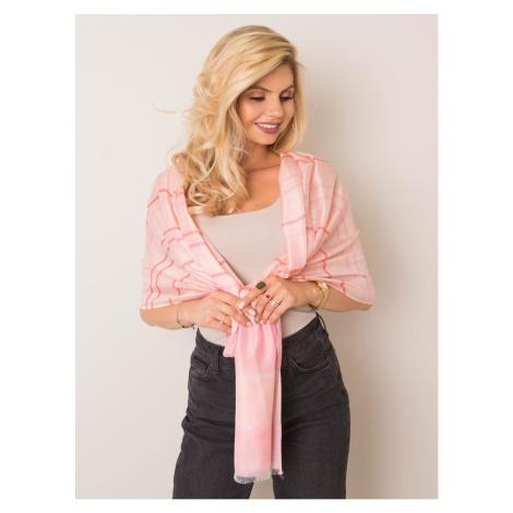 Różowy szalik w paski