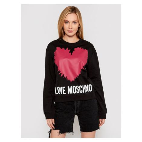 LOVE MOSCHINO Bluza W630643M 4282 Czarny Regular Fit