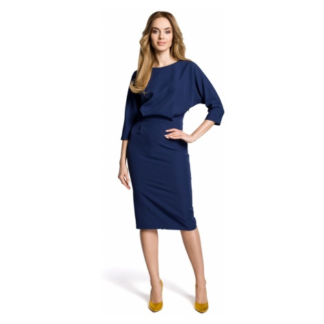 Made Of Emotion Woman's Dress M360 Navy Blue