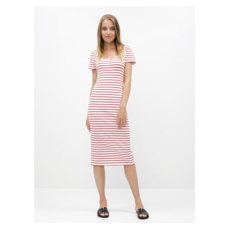 Red-white striped basic dress ZOOT Junne
