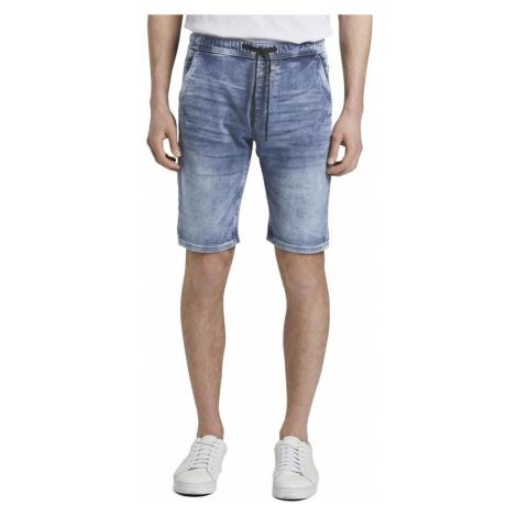 Niebieskie jeansowe szorty męskie Tom Tailor Denim