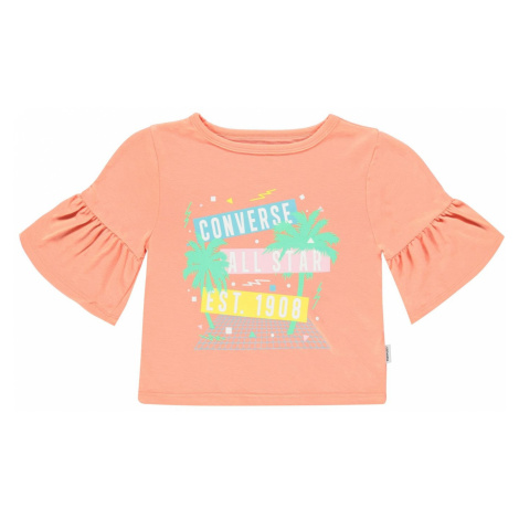 Converse Ruffle T-Shirt Junior Girls