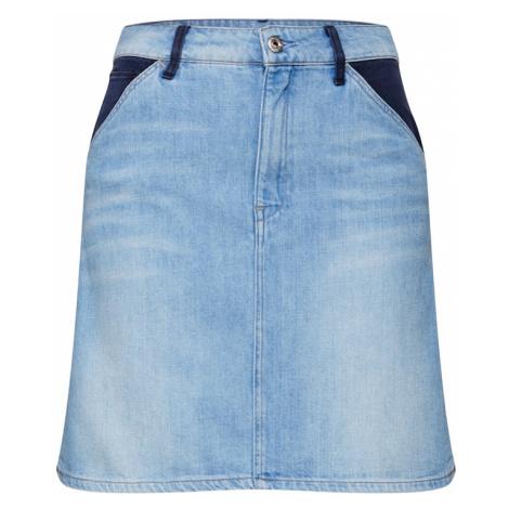 G-Star RAW Spódnica 'Faeroes' niebieska noc / niebieski denim